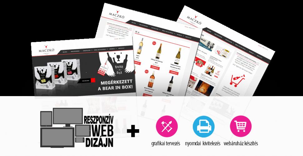 Maczkó webáruház késztés és grafikai munkák