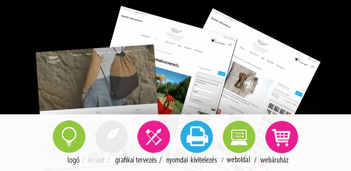 lidasoul - webáruház és logó tervezés